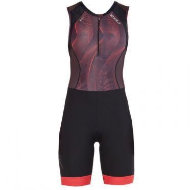 2XU Compression sleeveless trisuit black/red women