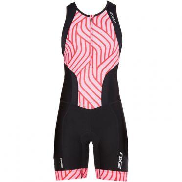 2XU Perform sleeveless trisuit black/pink women 2018