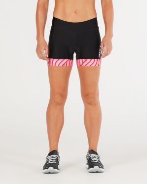 "2XU Perform 4.5"" tri shorts black/pink women"