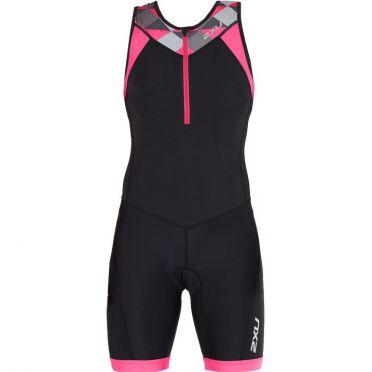 2XU Active sleeveless trisuit black/pink women