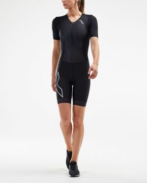 2XU Compression short sleeve trisuit black women