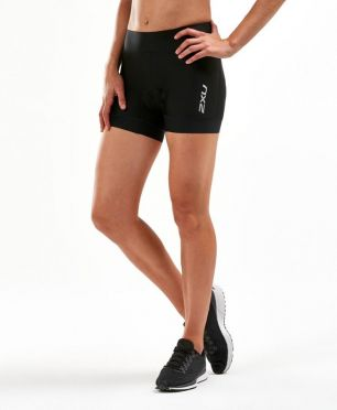 "2XU Perform 4.5"" tri shorts black women"