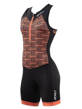 2XU Active sleeveless trisuit black/orange women