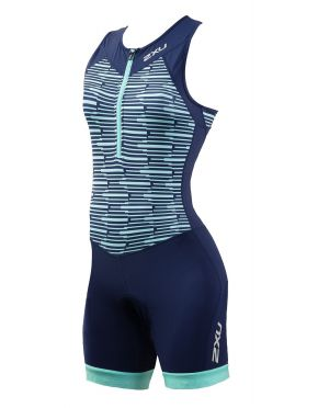 2XU Active sleeveless trisuit blue women