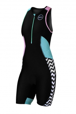 Zone3 Activate Plus Trisuit Black/Green/Pink/White Women