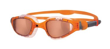 Zoggs Aqua-Flex Titanium orange lens goggles orange