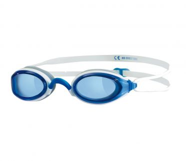 Zoggs Fusion air blue lens goggles blue/white