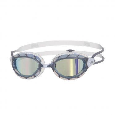 Zoggs Predator goggles grey/white - mirror lens