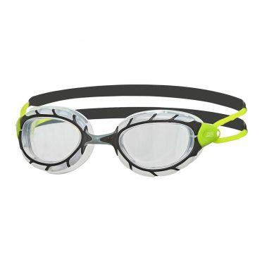 Zoggs Predator clear lens goggles black/green