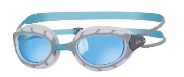 Zoggs Predator blue lens goggles grey/white