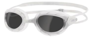 Zoggs Predator dark lens goggles white
