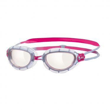 Zoggs Predator women clear lens goggles silver/pink