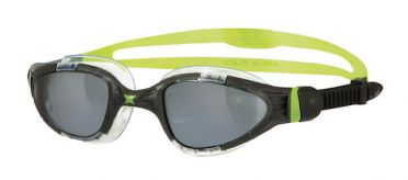 Zoggs Aqua-Flex Titanium dark lens goggles black/green