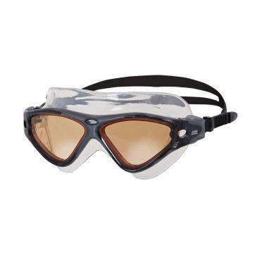Zoggs Tri-Vision Mask goggles black - Orange lens