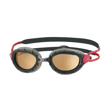 Zoggs Predator polarized ultra goggles black/red
