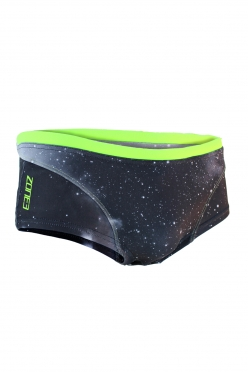 Zone3 Brief Cosmic Shorts Black/Yellow Men