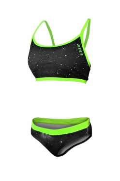Zone3 Cosmic Two Piece Bikini Black/Yellow women