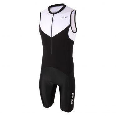 Zone3 Lava long distance sleeveless trisuit black/white men