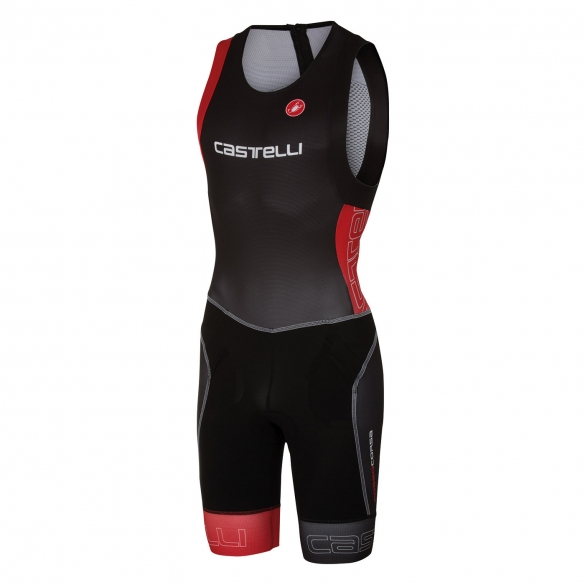 Castelli Free tri itu suit sleeveless men black/red 16072-231  CA16072-231