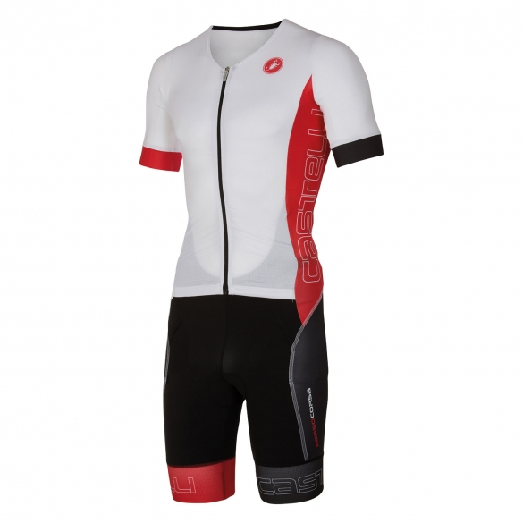 Castelli Free sanremo tri suit short sleeve men white/red 16073-123  CA16073-123