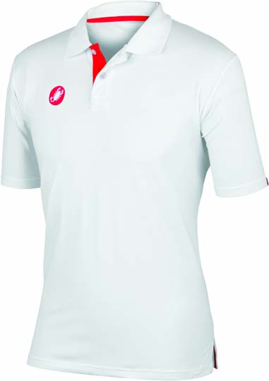 Castelli race day polo white mens 13096-001  CA13096-001