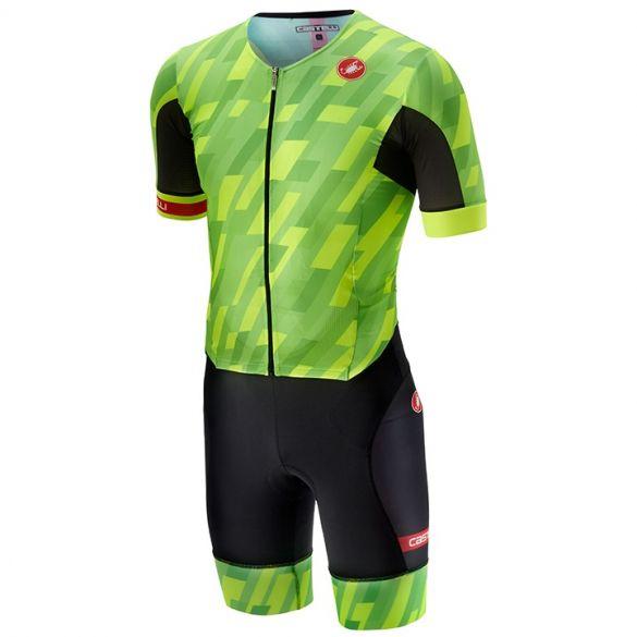 Castelli Free sanremo trisuit short sleeve pro green/black men  18109-084