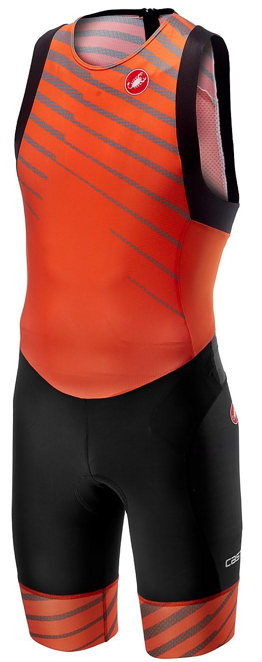 Castelli Free tri ITU suit back zip sleeveless orange men  18110-034