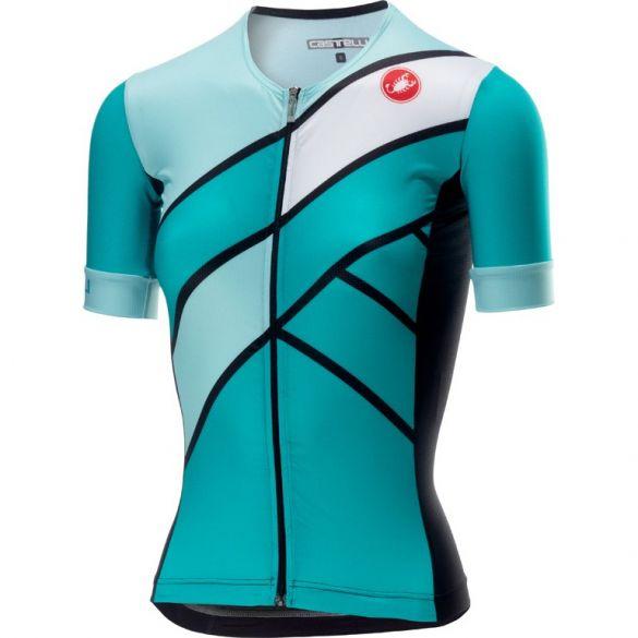 Castelli Free speed W race jersey tri top green/blue women  18116-044