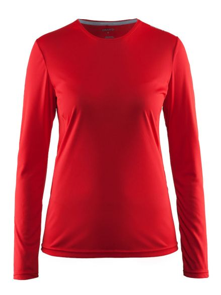 Craft T Shirt Fitness Shirt Breathable Ladies Thermal Shirt Red