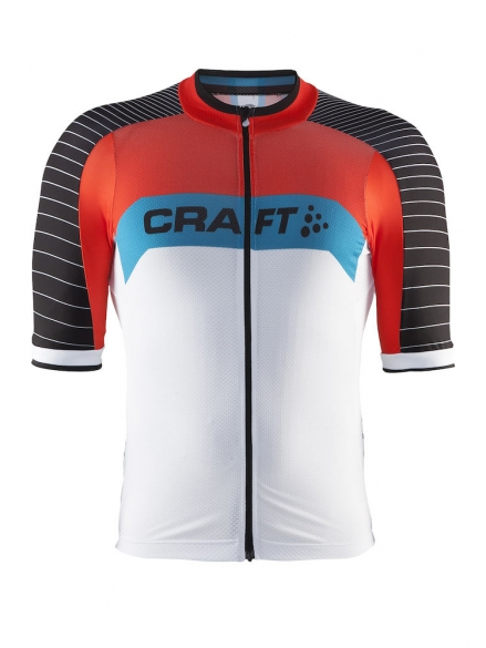 d87a64d76 Craft Gran fondo cycle jersey men white red online  Order Find it at ...
