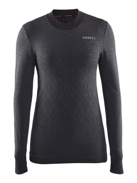 Craft Warm wool comfort long sleeve baselayer black women  1904482-9999