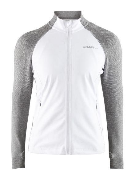 Craft Urban run fuseknit running jacket white grey women 1906434-900950 306fbb2ca