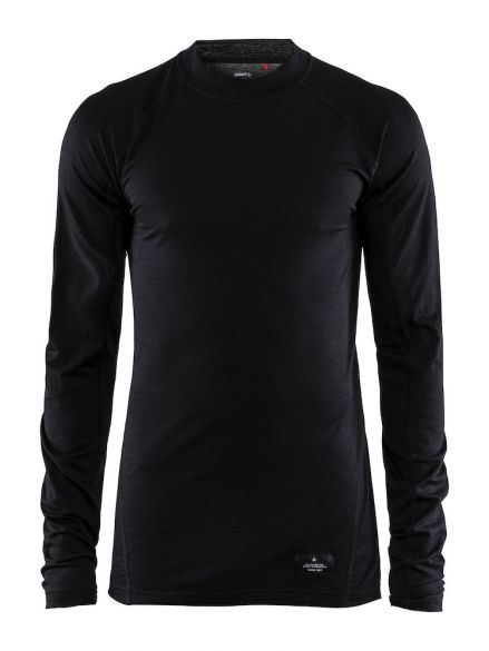 Craft Warm merino long sleeve baselayer black men  1906618-999000-L=VRR