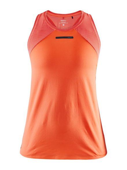 Craft Vent Mesh sleeveless running shirt orange women  1908705-825000