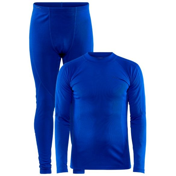 Craft Core Warm Thermo baselayer set blue men  1909709-360000