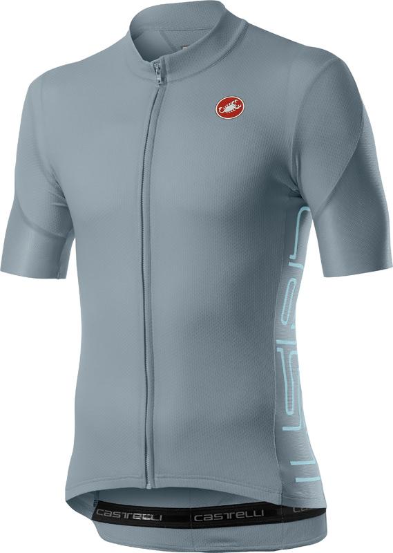 Castelli Entrata V short sleeve jersey grey men  20019-860
