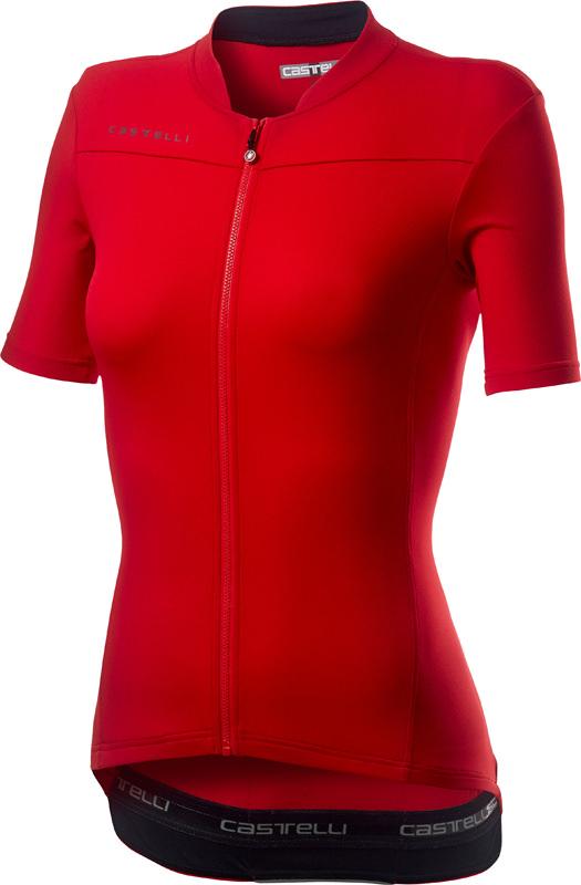 Castelli Anima 3 short sleeve jersey red women  20068-023