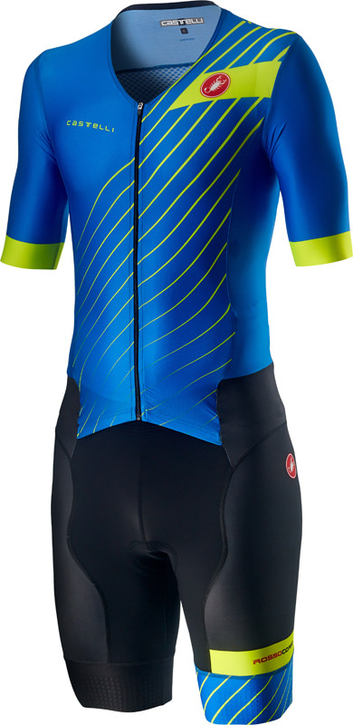 Castelli Free Sanremo 2 trisuit short sleeve blue/black men  20092-059