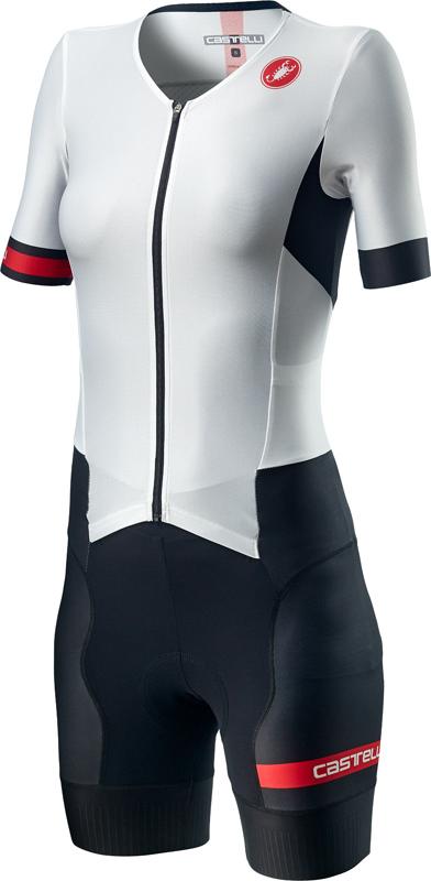 Castelli Free Sanremo 2 W trisuit short sleeve white/black women  20096-101