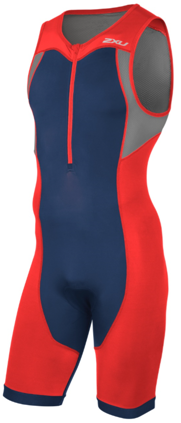 2XU Active Trisuit red/blue men  MT4361dTRD/NVY