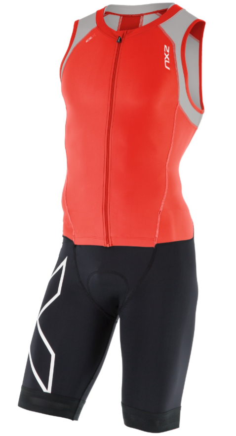 2XU Compression Full Zip trisuit black red grey men online  Order ... 2246b29a7cc3b