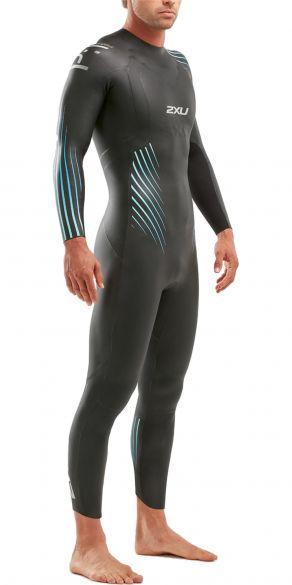 2XU P:1 Propel full sleeve wetsuit black/blue men  MW4991c-BLK/BRE