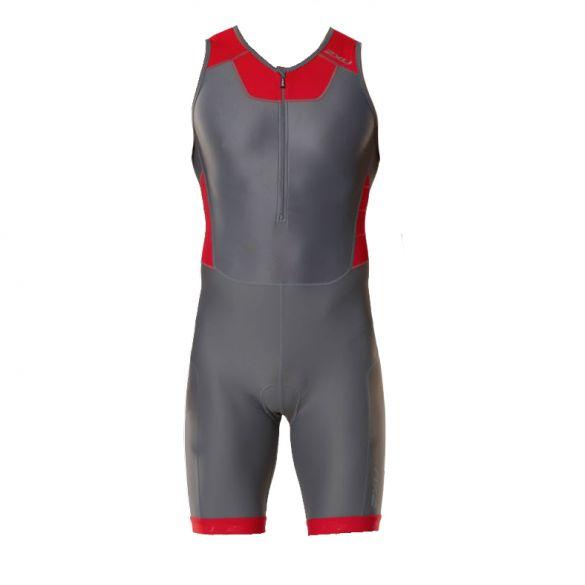 2XU X-vent trisuit front zip gray/red men  MT4354dCHR/TRD