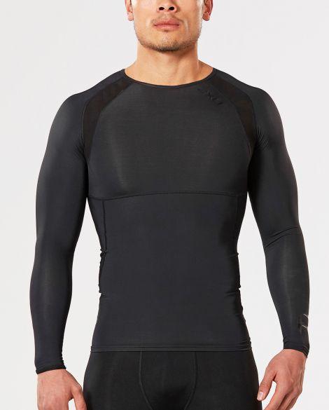 2XU Refresh Recovery compressionshirt long sleeve black men  MA4466a