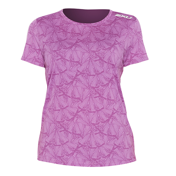 2XU GHST runningshirt short sleeve pink woman  WR6212a-BEUWRF