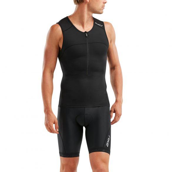 2XU Active sleeveless tri top black men  MT5541A-BLK/BLK