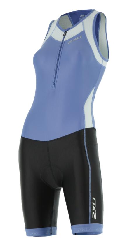 2XU X-vent Trisuit Front Zip blue/black women  WT4365dCBU/BLK