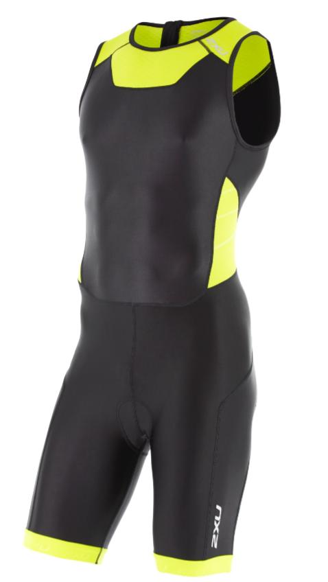 2XU X-vent Trisuit Rear Zip black/yellow men  MT4356dBLK/LPU