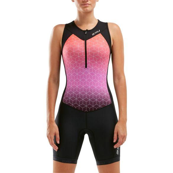 2XU Active sleeveless trisuit black/pink women  WT5546D-BLK/STO