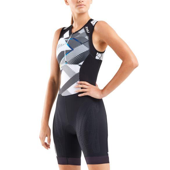 2XU Compression sleeveless trisuit black/white women  WT5522D-BLK/CRO